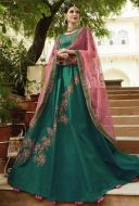 Dark turquoise Green Wedding Wear Lehenga choli