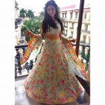 Turquoise Green Embroidery Work Lehenga Choli