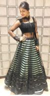 Mind Blowing Black & Pista Indo Western Suit